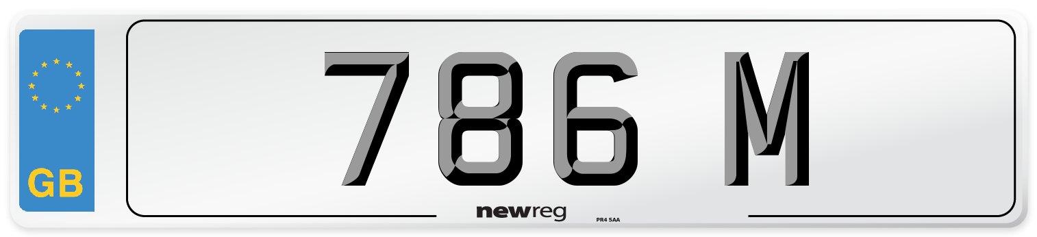 786 M Number Plate from New Reg